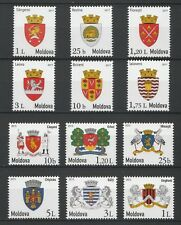 Moldova 2015 & 2017 Local Coats of Arms 12 MNH stamps