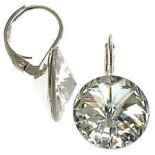 12mm Ohrringe mit Swarovski Kristall in der Farbe Transparent Klar