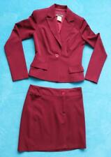 2 Pc Ladies Suit ~ BURGUNDY Jacket & Skirt ~ Juniors Sz 3 / 4 by JODI KRISTOPHER