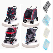 4 Types Pe+Eva Foldable Transparent Dog Stroller & Wind Cover For Pet Pushchairs