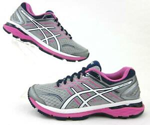 Asics GT-2000v5 Womens Running Shoes Midgrey / White / Pink Glow US 6.5D Wide