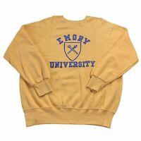 Vintage 70's Champion blue Bar Emory University sweatshirt made in USA Size XL
