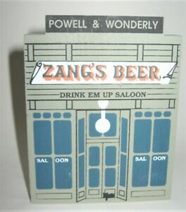 1989 Cat's Meow Drink 'Em Up Saloon Wild West Series - Zang's Beer - Signed 1991