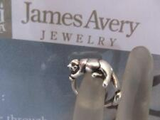 Vintage James Avery Sleeping Kitty Cat Sterling Silver Ring Retired Size 4