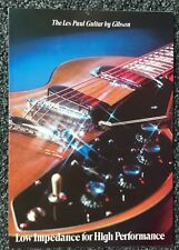 1971 Original Gibson Les Paul Recording/Triumph Brochure- w/Soundsheet -MINT
