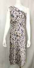 Catherine Malandrino Dress One Shoulder Silk Blend Grecian Evening Out size 8