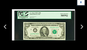 MINNEAPOLIS Fr. 2166-I $100 1969C Federal Reserve . PCGS Choice About New 58PPQ
