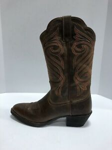 Ariat Round Up R Womens Western Boot Brown 7.5 M