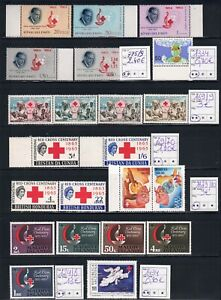 RED CROSS, collection stamps, sheet, booklet, FDC's on 5 scans, cat.val= +90.00€
