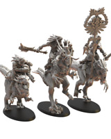 Lost Kingdom Miniatures Ezocamatl Knights Command Group Proxies 9th Age
