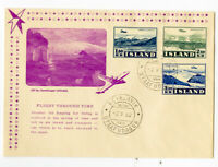 Iceland Stamps Cachet 1952 First Day Cover Unaddressed Scarce