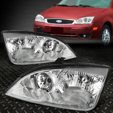 FOR 05-07 FORD FOCUS CHROME HOUSING CLEAR CORNER HEADLIGHT REPLACEMENT HEAD LAMP