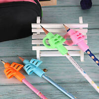 3pcs 2/3-finger Grip Silicone Kid Child Pen Pencil Holder Help Learn Write Tools