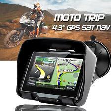 "8GB 4.3"" Motorbike Sat Nav GPS Navigator Bluetooth Waterproof IPX7 +EU Free Maps"
