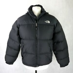 Mens THE NORTH FACE Nupste 700 Goose down Puffer Jacket Size MEDIUM Black Hooded