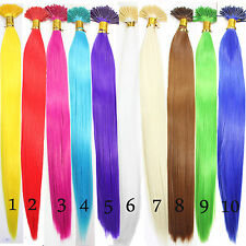 "10 Single Color Solid Synthetic Feather Hair Extensions 16"" Straight Long Select"