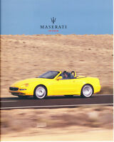 2003 2004 Maserati Spyder 44-page Car Sales Brochure Catalog