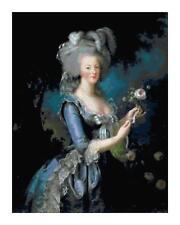 Marie Antoinette in Garden Portrait DIGITAL Counted Cross Stitch Pattern Chart