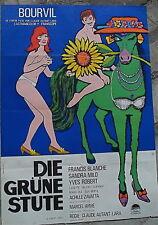 Die vert Stute BOURVIL affiche du film