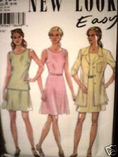 Vintage NEW LOOK SEWING Pattern 6468 Misses Skirt Top Dress 6-16 FF OOP NEW SEW