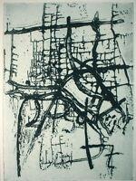 BERNHARD LEHMANN, Jevenstedt (*1944) hand-signiert - Radierung: BASDA-? TZ