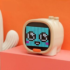 Pixel Art Bluetooth Speaker Portable Wireless Speaker Clock Alarm Cute Gadget
