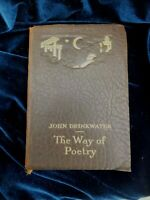Antiquarian  Leather Bound Book The Way of Poetry by John Drinkwater Collins