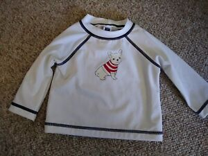 Janie And Jack Boys Long Sleeve Swim Top Size 3 - 6 Months NWOT Dog Graphic