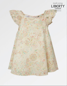 Fat Face Liberty of London Woven Star Print Top Age 10-11 Years Brand New