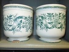 cache-pots, céramique de Grigny, 19è siècle, déco