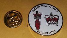 ulster will always be british Enamel badge loyalist rfc orange order red hand