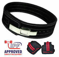 Powerlifting Lever Black Belt 10mm (S) w/ Wrist Wraps - weightlifting body gym
