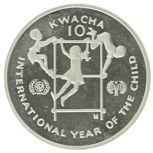 Zambia - Silver 10 Kwacha Coin - 'Year of the Child' - 1980 - Proof