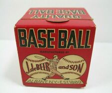 vintage J. deBeer and Son Official League Baseball with original box. #90 new