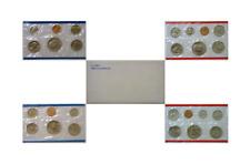 1980 U.S. Mint 13 Coin Set Original Cellophane Packs With Envelope