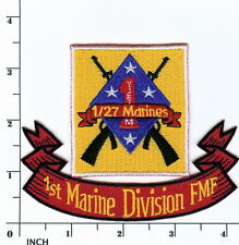 USMC 1st Battalion/27th Marines PATCH 1/27 VIETNAM vets ! attached to 1st MarDiv