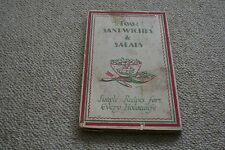 VINTAGE 100 SANDWICHES & SALADS FIRST EDITION PUBLISHED IN 1928
