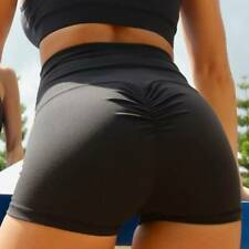 Womens High Waist Yoga Shorts Push Up Ruched Sports Hot Pants Casual Gym Workout
