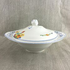 Vintage Tureen Art Deco Bowl 1930s Hand Painted Lidded Royal Staffordshire