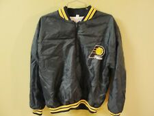Vintage Indiana Pacers Chalk Line 1/2 Zip Pullover Nylon Jacket Own's Fiberglass