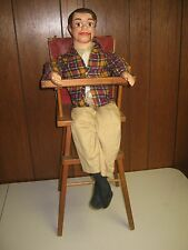 """Vintage Pla-Doll Wooden High Chair Styled by Doll Furniture Corporation 28"""" High"""