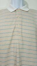 Ping Collection Performance Dynamics  Polo Golf Shirt Medium striped sh/sl AE7