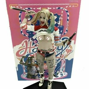 Big size statuessh Suicide squad Harley Quinn real clothes Figure Figurine