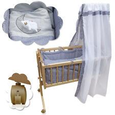 Lit bébé Berceau bébé en bois nacelle lit d'appoint Colori literi gris