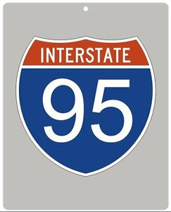 Metal Interstate highway sign - Your Choice of Interstate number and size