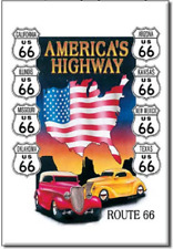 Refrigerator Magnet: Route 66 - America's Highway M605