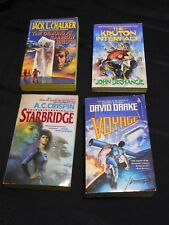 Lot of 4 Science Fiction pb novels, late 80s- early 90s Crispin Chalker Drake +
