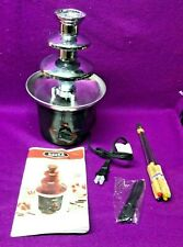 Bella Chocolate Fountain Cheese Fondue Recipe Guide 6 Forks 3 Tier New cond
