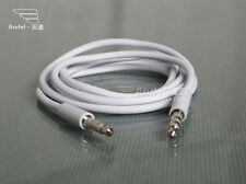 1x 3.5mm White Auxiliary Aux Male to Male Cable For iPhone Smart phone samsung