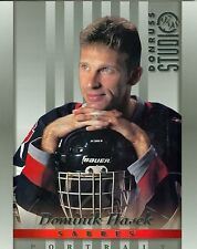 Dominik Hasek 1997-98 Donruss Studio '97 Portrait Card Buffalo Sabres #2 NM 8x10